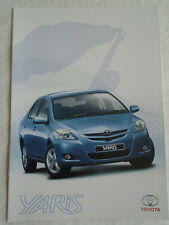 Toyota Yaris Sedan range brochure Jul 2006 South African Market English text
