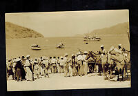 1945 Puerto Marquez Mexico Real Picture Postcard Cover to USA Dock Scene
