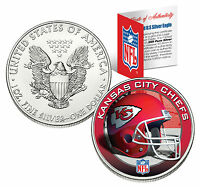 KANSAS CITY CHIEFS 1 Oz .999 Fine Silver American Eagle $1 Coin NFL LICENSED