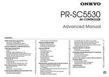 Onkyo Integra PR-SC5530 Advanced AV Controller Owners Instruction Manual
