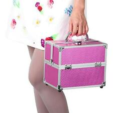Aluminium Cosmetic Make Up Box Professional Large Vanity Jewellery Saloon Case