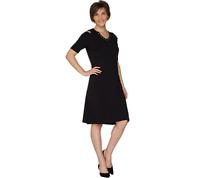 Belle By Kim Gravel TripleLuxe Knit Cold Shoulder Dress Color Black Size M