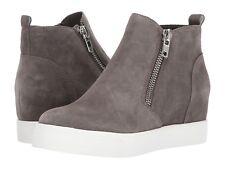 Steve Madden Women's Wedgie Hidden Wedge Sneaker - Grey Suede NIB