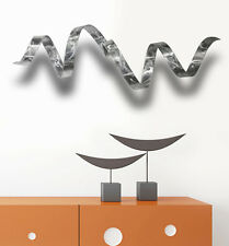 Silver Metal Wall Sculpture - Modern Metal Art - Home Decor - Silver Wall Twist
