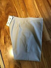 Eileen Fisher SILVER  Ankle w/ Yoke Washable Stretch Crepe Straight Pants Sz XL