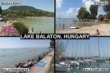 SOUVENIR FRIDGE MAGNET of LAKE BALATON HUNGARY