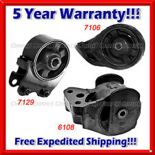 K034 Fit 2002-2005 Hyundai Sonata 2.4L Front & Rear Engine Motor Mount 3pcs Set