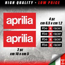 KIT 6 Adesivi APRILIA #BE A RACER Racing sticker moto RSV4 RS TUONO RSV - KAP003