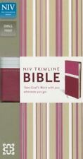 NIV, Trimline Bible, Imitation Leather, Pink/Burgundy, Red Letter Edition, Zonde
