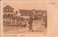 Netherlands Indies Indonesia  Postcard Soerabaja Ferry Boat over Kali Mas unused