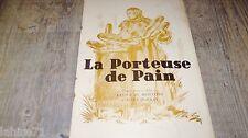 fernandel LA PORTEUSE DE PAIN    ! rare dossier presse cinema 1934