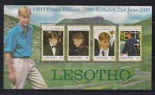 Lesotho  2000  Sc # 1224  Prince William  Sheet of 4   MNH  OG   (50963)