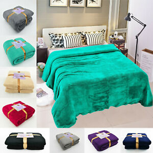 New Teddy Fleece Blanket Soft Cosy Large Faux Fur Sofa Warm Cuddly Bed Throw