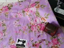 50cm Classic Pink Roses Floral cotton lycra 4 way stretch knit fabric 150cm wide