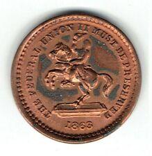 Copper Fuld 178/267 R1 Civil War Patriotic uncirculated token Jackson on horse