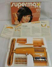Vintage Gillette Super Max HD7 Hair Blow Dryer Orange Supermax UNUSED