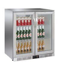 AG Flaschenkühlschrank Kühlschrank Edelstahl 208 Liter 900 x 520 x 900 mm