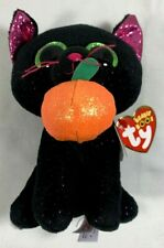 NEW TY BEANIE BOOS POTION BLACK WITH GREEN EYES HALLOWEEN CAT