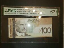 Bank of Canada 2003 100 Dollars BC-66a-i PMG 67 EPQ Prefix EJA