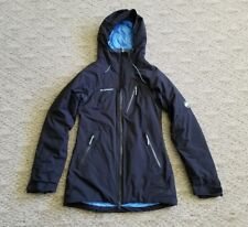 EUC MAMMUT DRY TECH PREMIUM WOMEN'S HOODED INSULATED JACKET COLOR BLACK SIZE XS