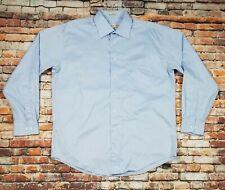 (Q-7203) Pronto Umo Blue Dress Shirt Men's 16.5 34/35 Non Iron Long Sleeve EUC