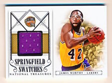 2013-14 National Treasures James Worthy Springfield Swatches Jersey SP /49 - QTY