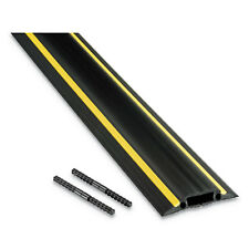 D-LINE Medium-Duty Floor Cable Cover 3 1/4 x 1/2 x 6 ft Black with Yellow Stripe