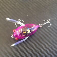 1x PFS Winged Cicada Fishing Lure Topwater Popper Crawler Freshwater Bream Bass