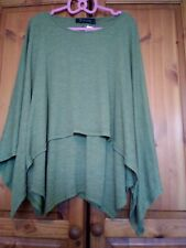 Join clothes Small 8 10 double layered tunic green