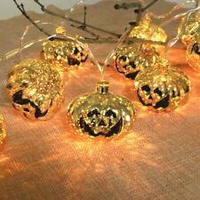 New Hot Pumpkin & Skull &Ghost Halloween String Lights Indoor Outdoor Decoration