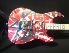 Frankenstrat replica Striped 6 String Electric Guitar custom build relic van hal