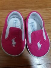 Polo Ralph Lauren Infant Baby Shoes Balmont Slip-On Sneakers 2 Active Pink