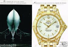 Publicité advertising 1995 (2 pages) La Montre Breitling Perpetual Sirius