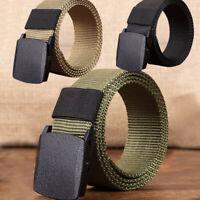 Men's Outdoor Tactical Sports Nylon Waistband Canvas Web Belt Dazzling Military