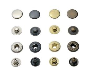IstaTools® S-Feder Druckknöpfe Type 54 / 12,5mm, stahl, Knopf, für Stoff, Leder