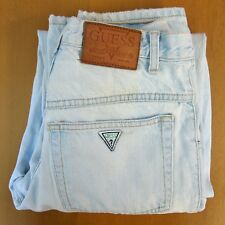 VTG 90s GUESS Made In USA Denim Jeans 29x32 Mom High Waist Triangle Vaporwave