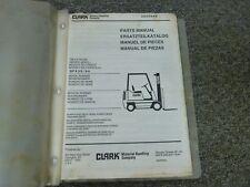 Clark Models GPX35 GPX50 Forklift Lift Truck Parts Catalog Manual