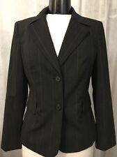 Ann Taylor Loft Women's Blazer Petites Black Wool Fully Lined 2 Button Size 6P