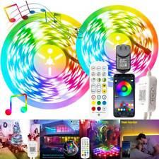 RGB LED Strip Lights Waterproof 5050 SMD APP Bluetooth Controller Adapter 1-30m