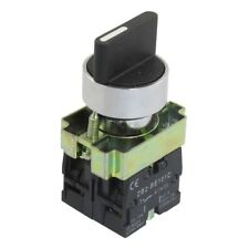 22mm Latching 2 NO 3-Position Rotary Selector Select Switch ZB2-BE101C Blac M0O1