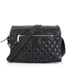 Chanel Large Quilted Nylon Coco Cocoon Black Messenger Bag