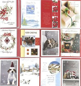 Christmas Card Cute Traditional Embossed Greeting Cards Xmas Gift