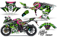 Street Bike Graphics Kit Decal Wrap For Kawasaki Ninja ZX6R 636 13-16 FRENZY GRN