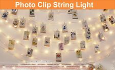 LED Photo Holder String Fairy Lights with clips