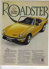 Original 1978 Triumph Spitfire Magazine Ad - The Strong Survivor