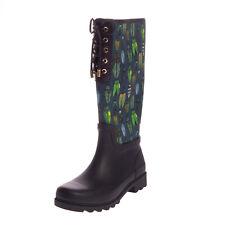 RRP €655 TORY BURCH Wellington Boots EU 40 UK 7.5 US 10 Insect Pattern Lug Sole