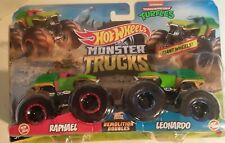 Hot Wheels Teenage Mutant Ninja Turtles Monster Trucks 2 pack Leonardo & Raphael