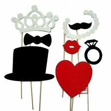 8pcs Set of colorful props mustache on a stick Photo Booth props Wedding W7O6
