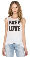 CHASER FREE LOVE TANK MUSCLE TEE BLACK WHITE JERSEY GRAPHIC T SHIRT SZ S NEW