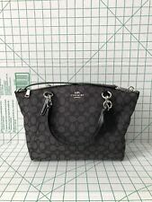 Coach F27582 Outline Signature Small Kelsey Jacquard Satchel Black Crossbody Bag